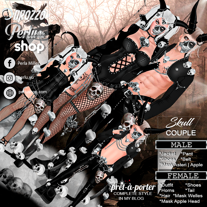 SKULL COUPLE BUNDLE - PERLU | DROZZO SHOP