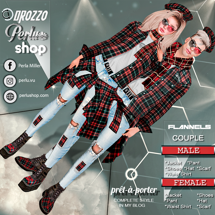 FLANNES COUPLE BUNDLE - PERLU | DROZZO SHOP