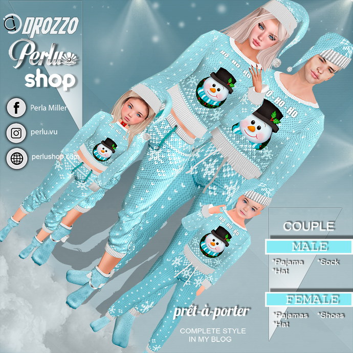 UGLY PAJAMA |BL COUPLE BUNDLE - PERLU | DROZZO SHOP