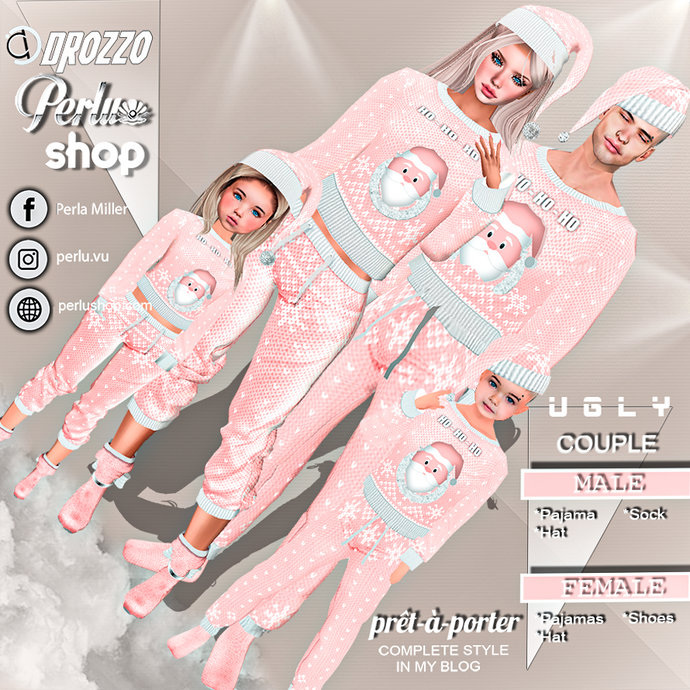 UGLY PAJAMA |P COUPLE BUNDLE - PERLU | DROZZO SHOP