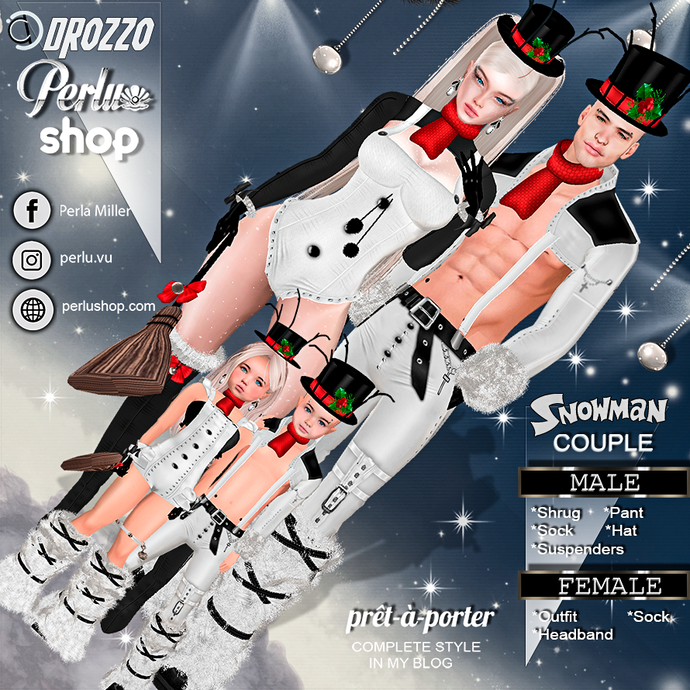 SNOWMAN COUPLE BUNDLE - PERLU | DROZZO SHOP