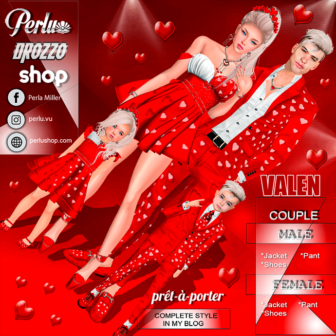 VALEN COUPLE BUNDLE - PERLU | DROZZO SHOP