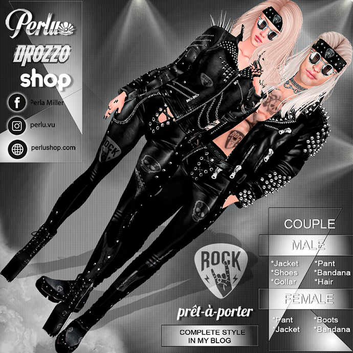 ROCK COUPLE BUNDLE - PERLU | DROZZO SHOP