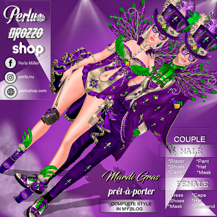 MARDI GRAS COUPLE BUNDLE - PERLU | DROZZO SHOP