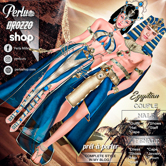 EGYPTIAN COUPLE BUNDLE - PERLU | DROZZO SHOP