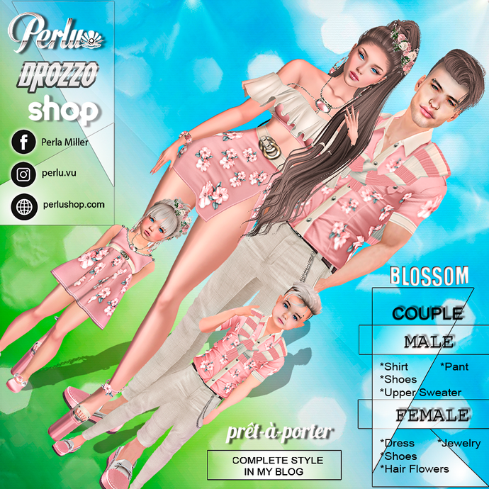 BLOSSOM COUPLE BUNDLE - PERLU | DROZZO SHOP