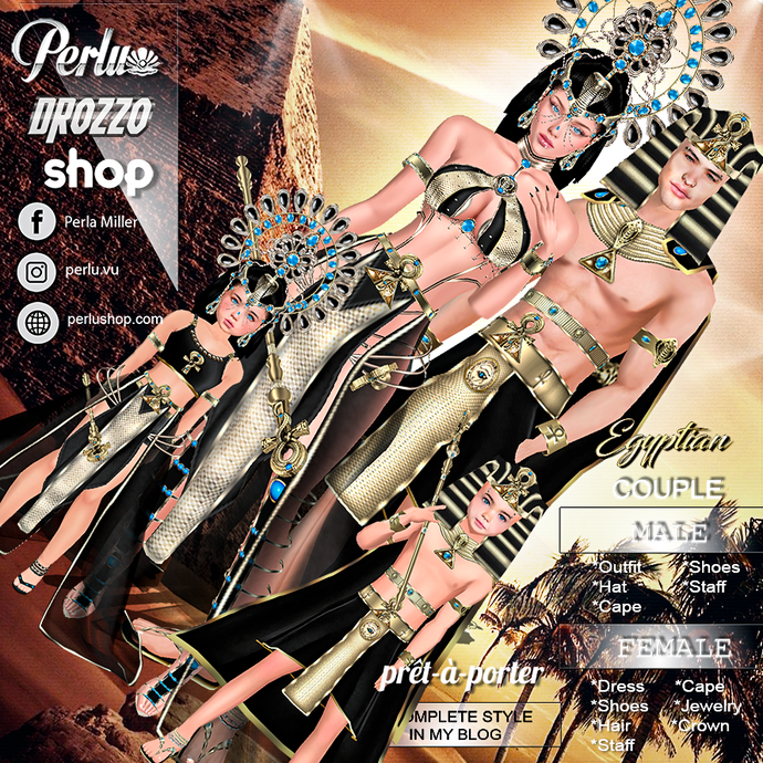 EGYPTIAN B COUPLE BUNDLE - PERLU | DROZZO SHOP