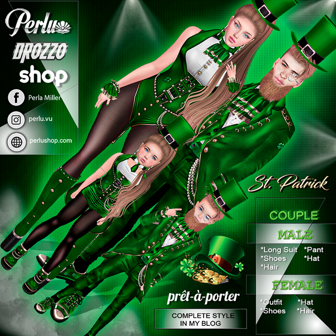 ST. PATRICK COUPLE BUNDLE - PERLU | DROZZO SHOP