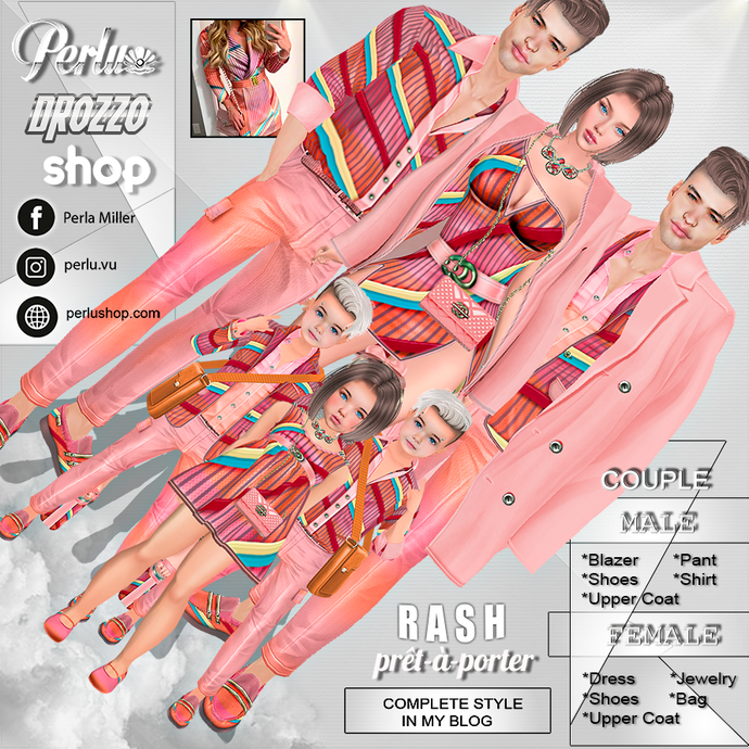 RASH COUPLE BUNDLE - PERLU | DROZZO SHOP