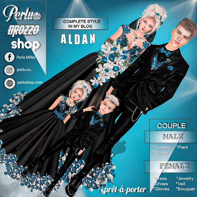 ALDAN - ALDANA COUPLE BUNDLE - PERLU | DROZZO SHOP
