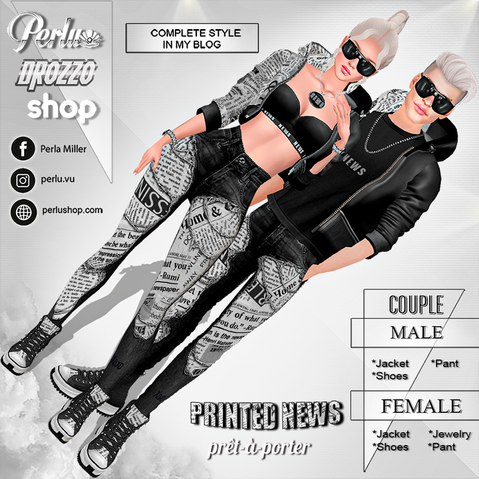 PRINTED NEWS COUPLE BUNDLE - PERLU | DROZZO SHOP