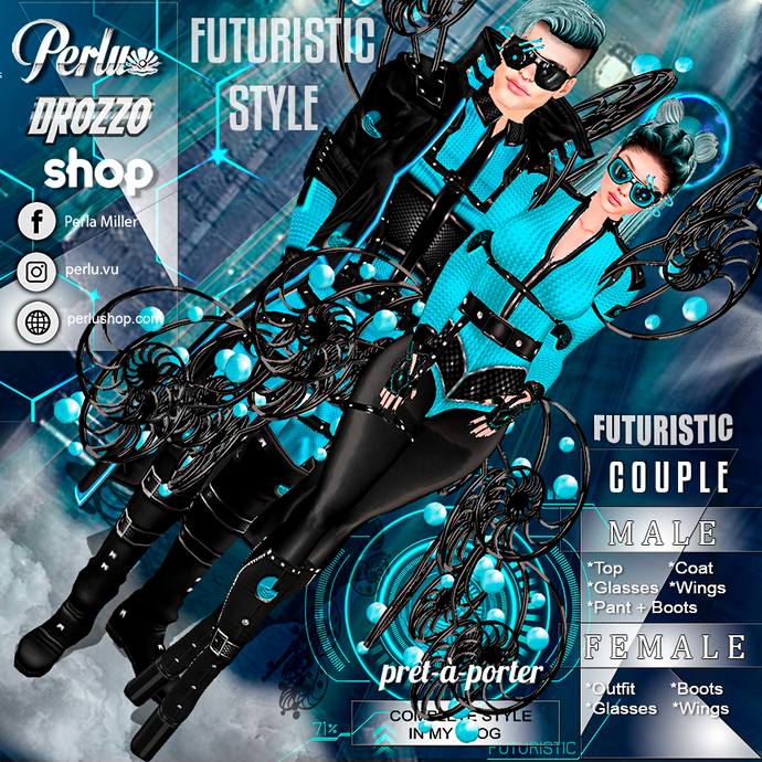 FUTURISTIC COUPLE BUNDLE - PERLU | DROZZO SHOP