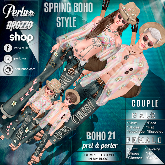 BOHO 21 P COUPLE BUNDLE - PERLU | DROZZO SHOP