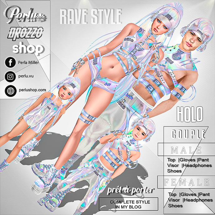 HOLO COUPLE BUNDLE - PERLU | DROZZO SHOP