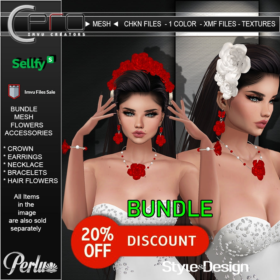 ►BUNDLE FLOWERS ACCESSORIES - MESH ◄