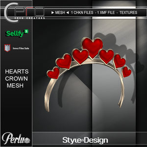 ►HEARTS CROWN - MESH 02◄