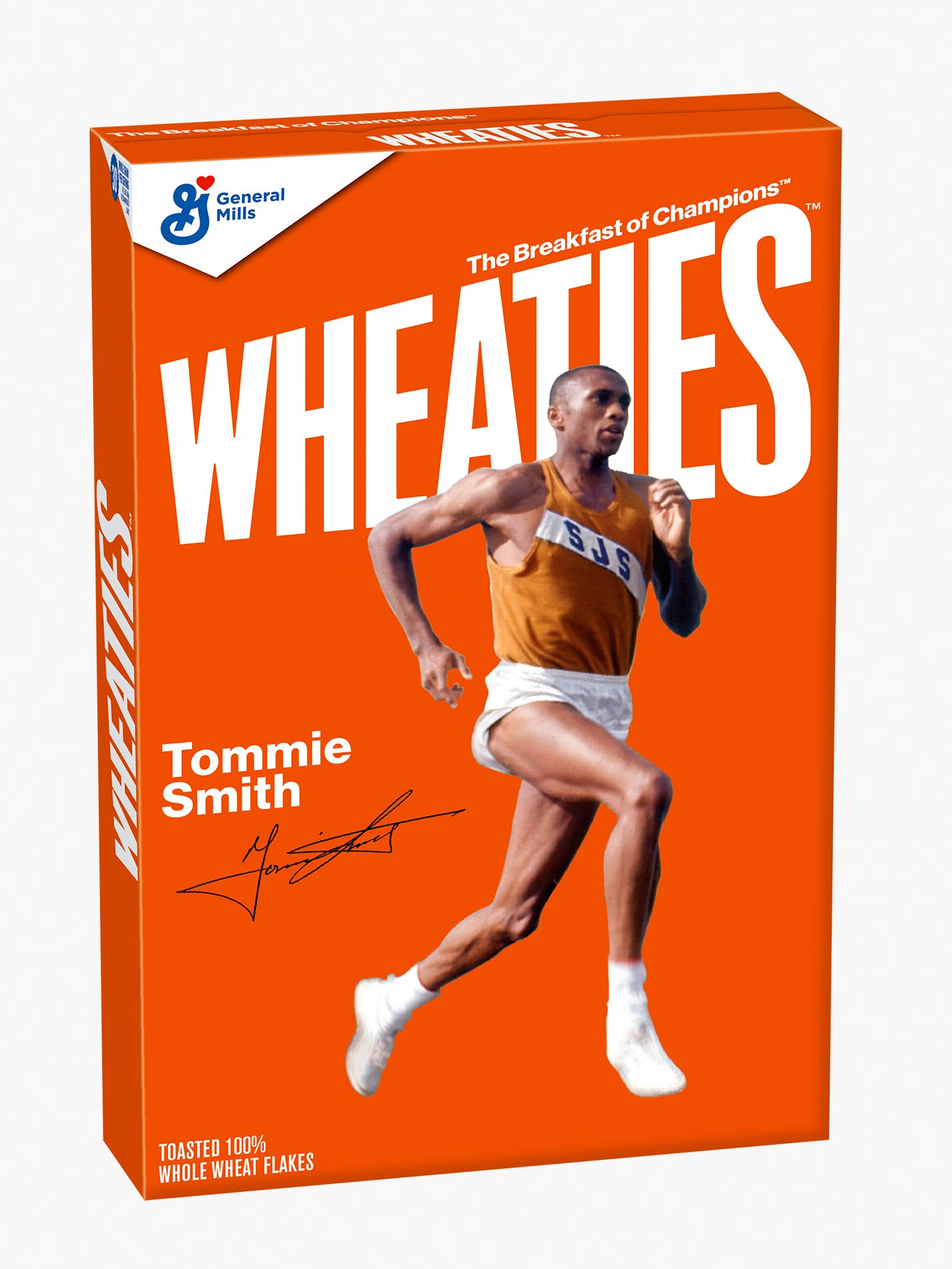Tommie Smith 1968 Wheaties Box