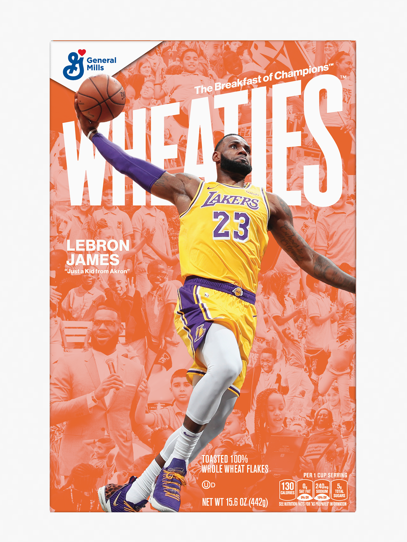 LeBron James x I PROMISE Wheaties Box