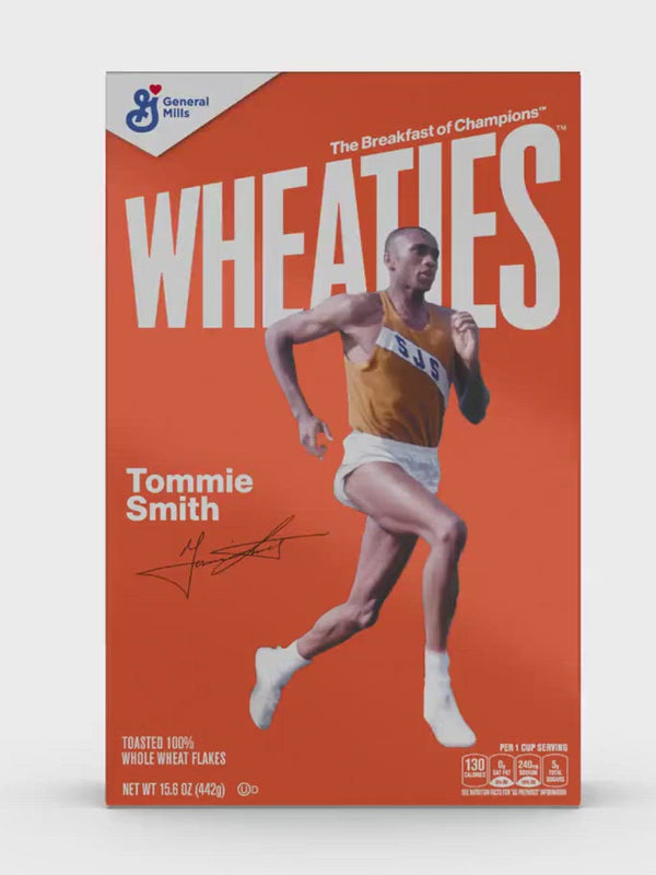 Load and play video in Gallery viewer, Tommie Smith 1968 Wheaties Box