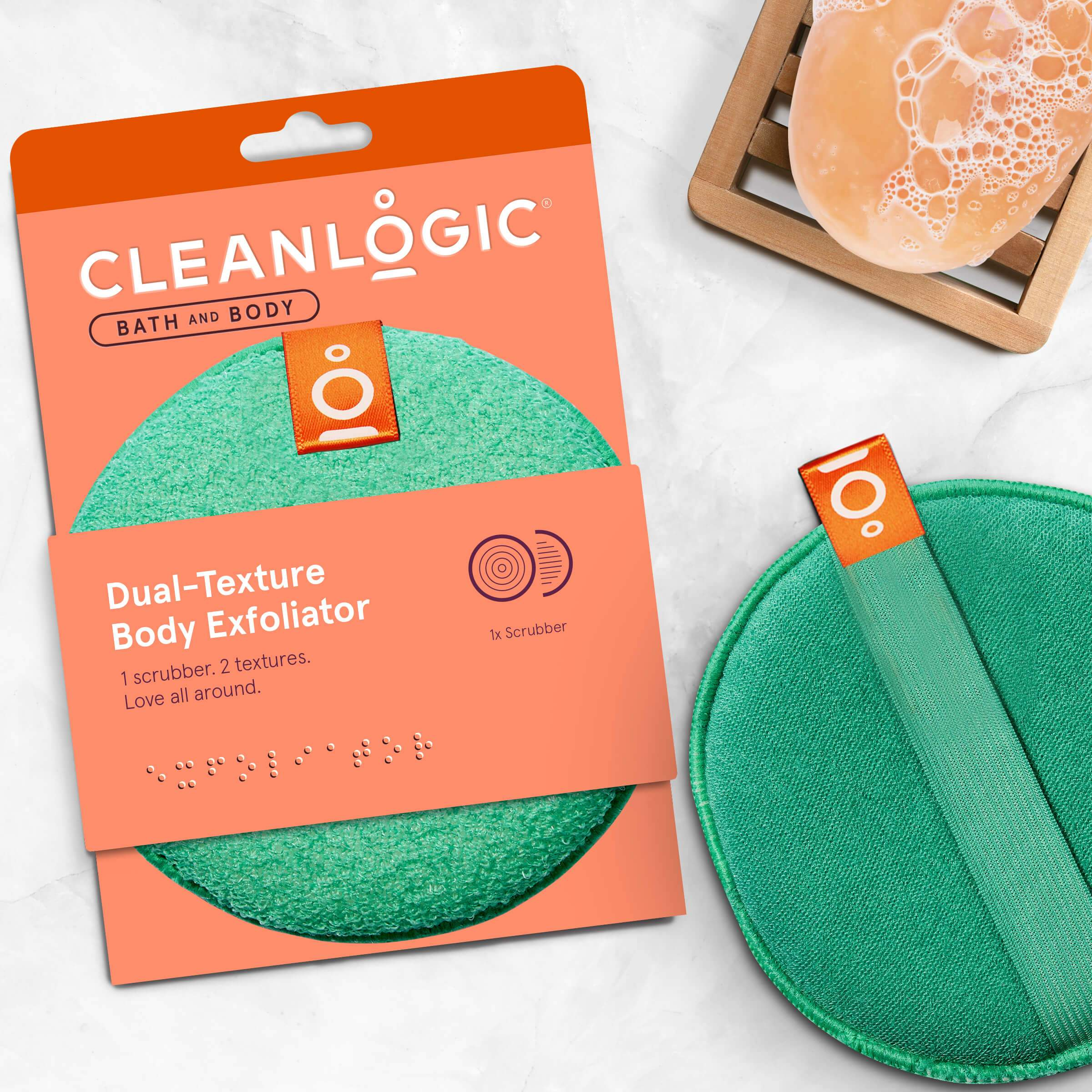 Cleanlogic Bath and Body Dual-Texture Body Exfoliator