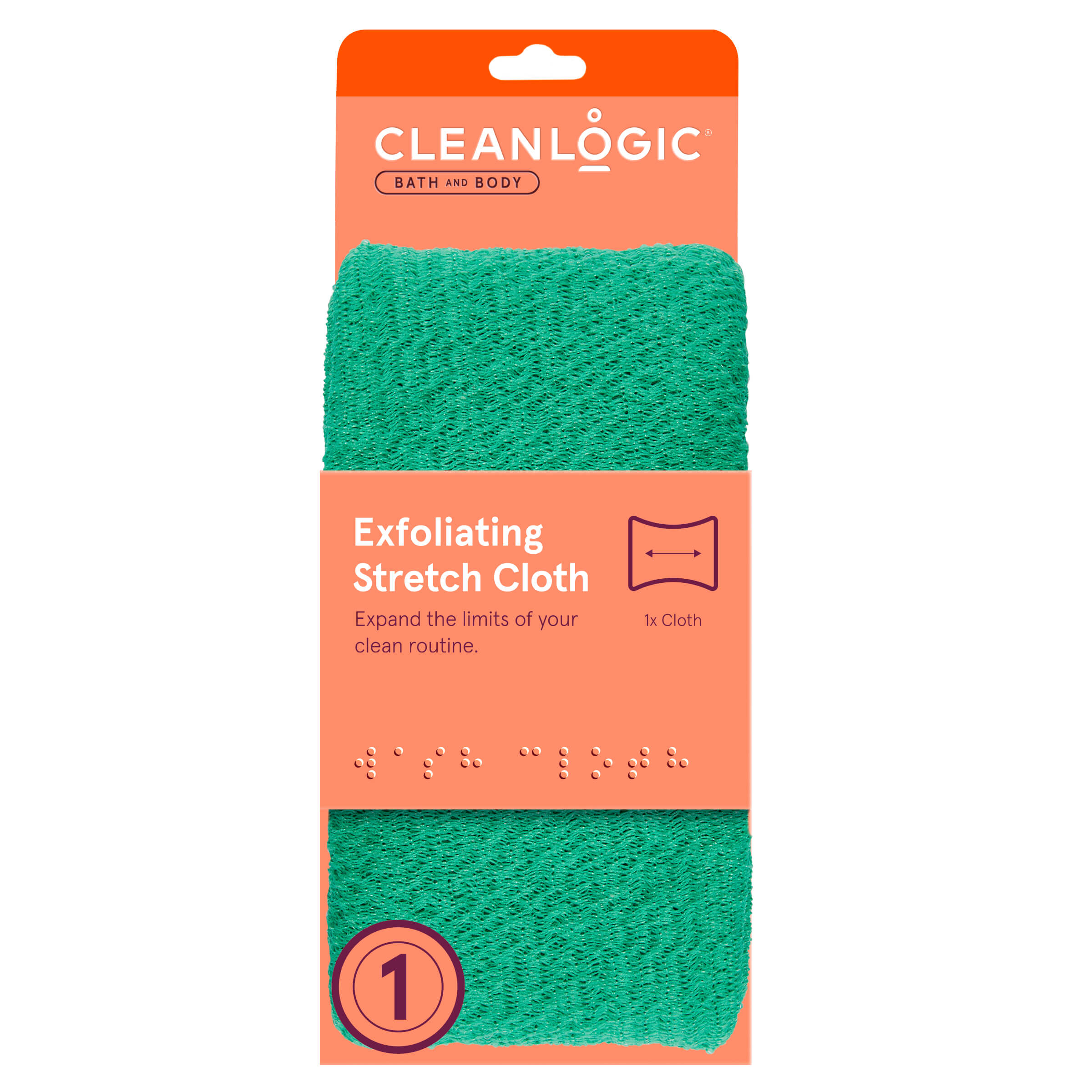 Cleanlogic Bath and Body Exfoliating Stretch Cloth