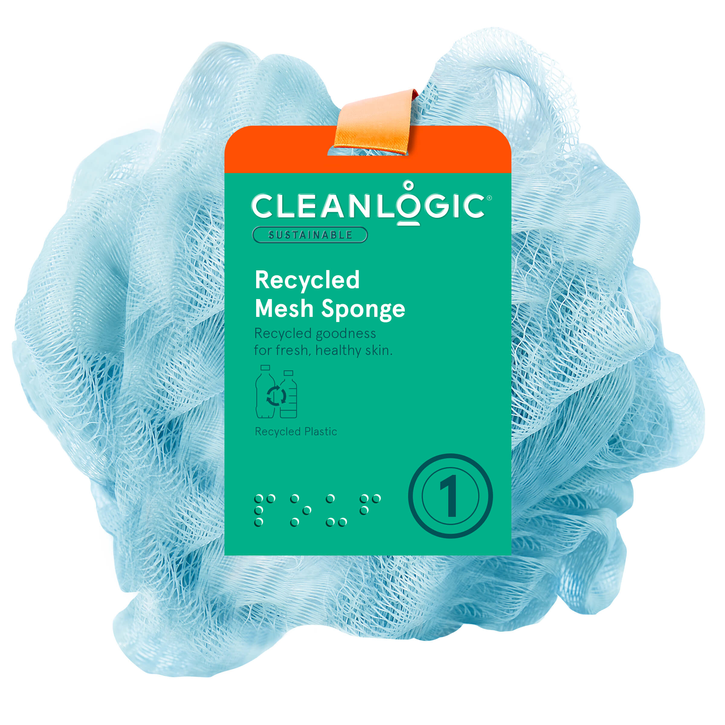 Cleanlogic Sustainable Recycled Mesh Sponge 60g