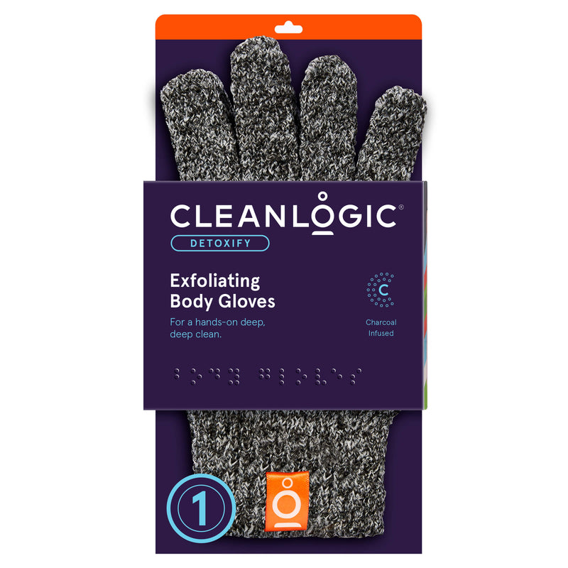 Detox Purifying Charcoal Exfoliating Bath Gloves