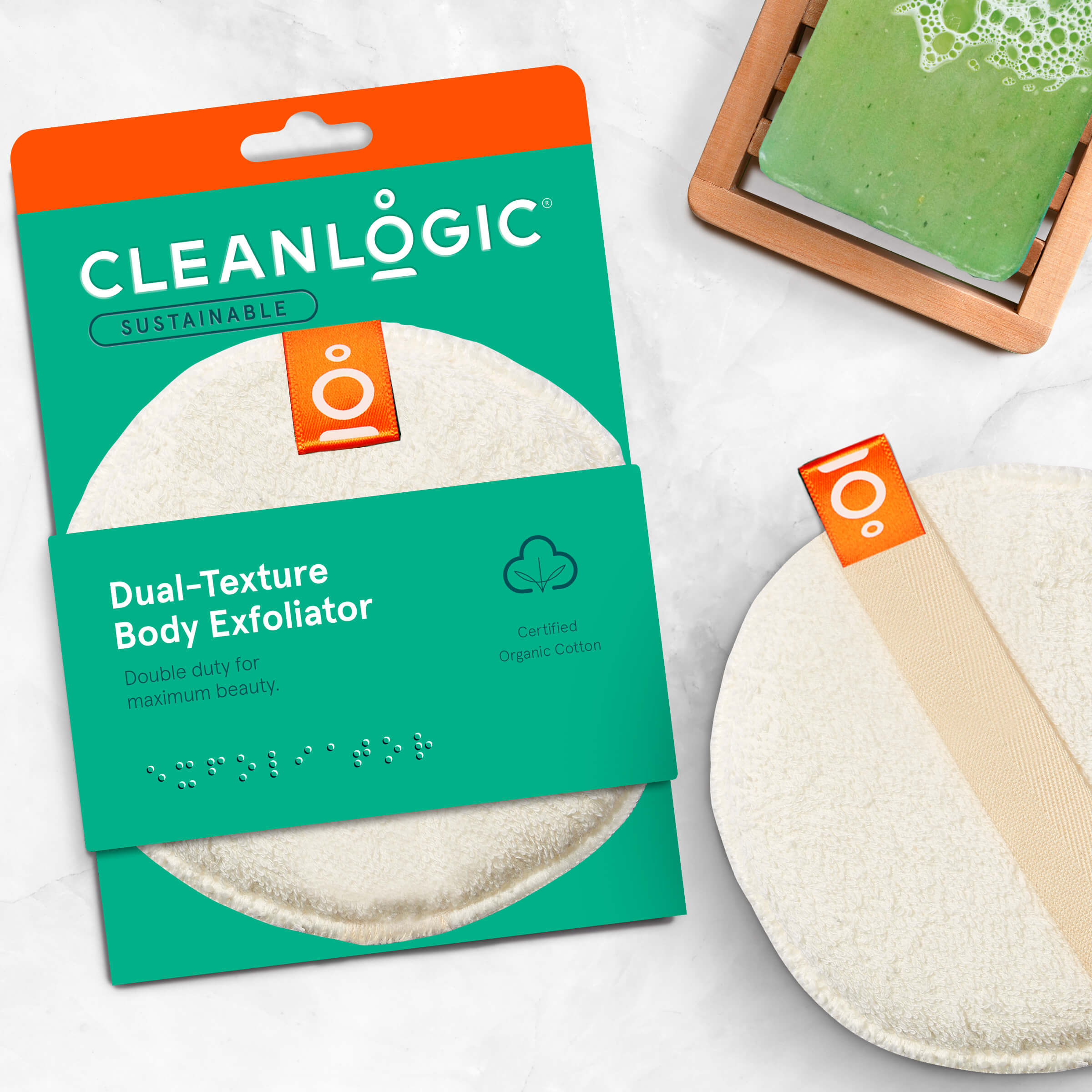 Cleanlogic Sustainable Dual-Texture Body Exfoliator