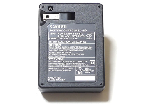 Canon LC-E6 Battery Charger for EOS 5D Mark II, 7D & 60D Digital SLR Camera