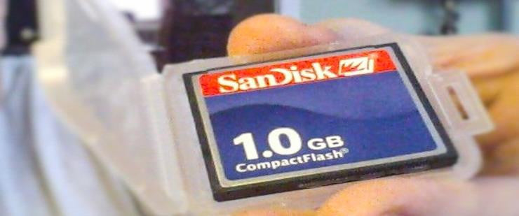 SanDisk Compact Flash CF Memory Card 1GB