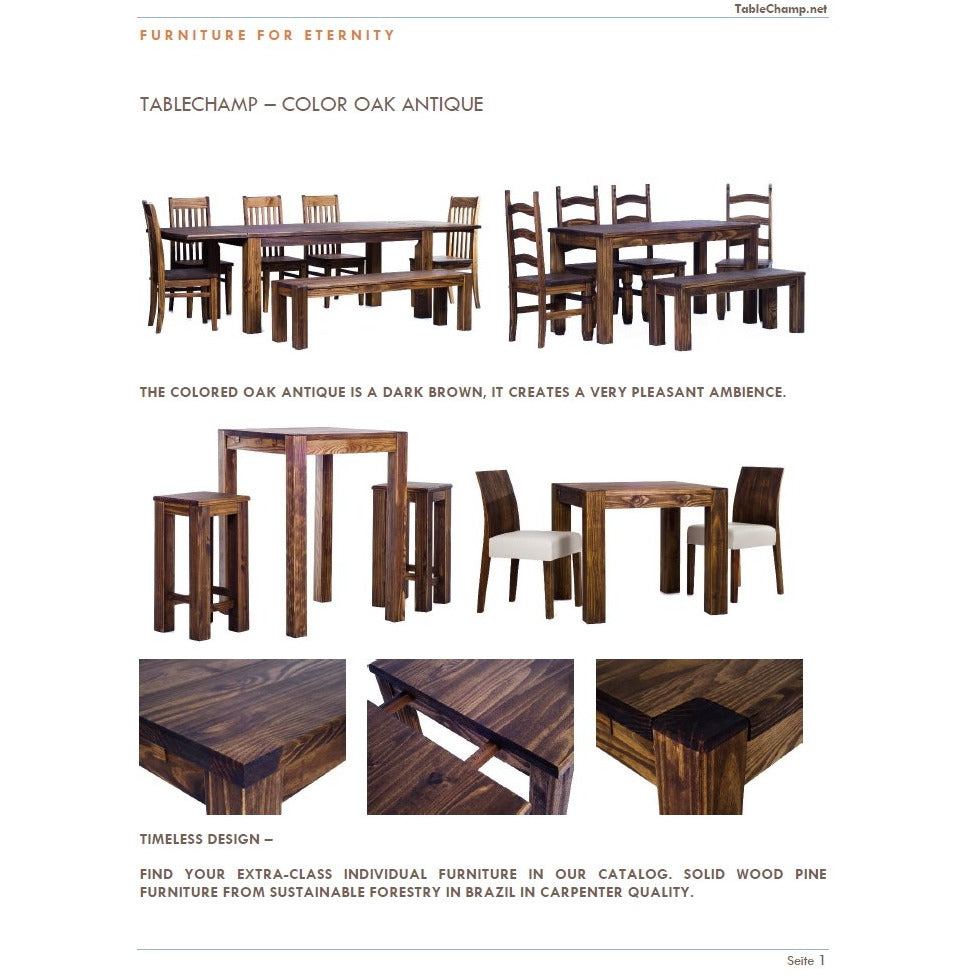 FREE TableChamp Catalogue With Wooden Samples All Colors And Sizes Presentation - TableChamp
