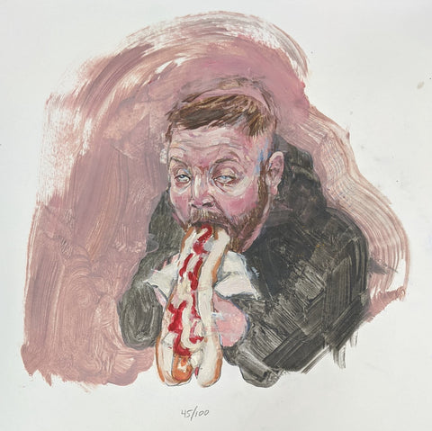 Aaron Eating a Hotdog (Head 45/100)