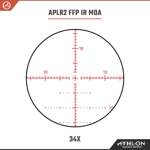 Athlon Optics Argos BTR GEN2 8-34x56 FFP IR Rifle Scope