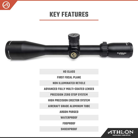 Athlon Optics Midas TAC HD 6-24x50 FFP Rifle Scope