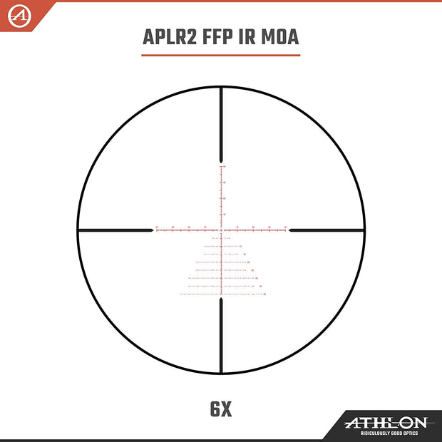 Athlon Optics Argos BTR GEN2 6-24x50 FFP IR Rifle Scope