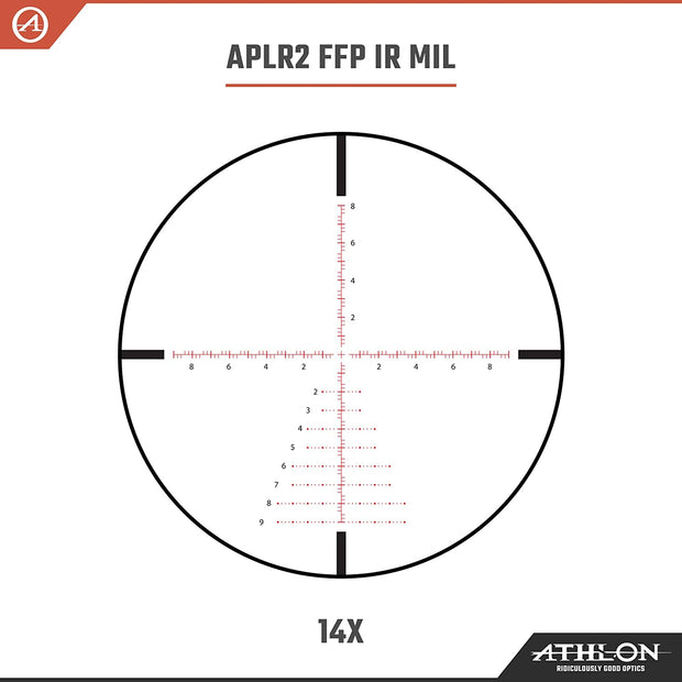 Athlon Optics Talos BTR 4-14x44 APLR2 FFP IR MIL Rifle Scope