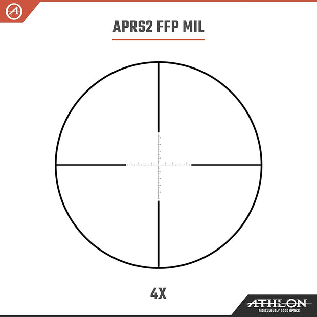 Athlon Optics Midas TAC HD 4-16x44 APRS2 FFP MIL Rifle Scope