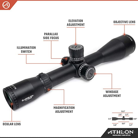 Athlon Optics Ares ETR UHD 4.5-30x56 FFP Rifle Scope