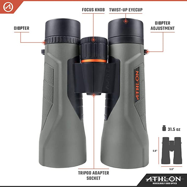 Athlon Optics Argos G2 10x50 HD Binocular