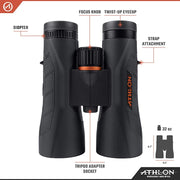 Athlon Optics Midas G2 12x50 UHD Binocular