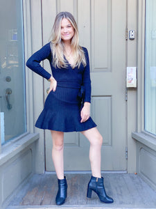 Little Black Sweater Dress