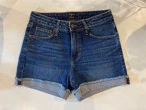 Mid Rise Cuffed Shorts