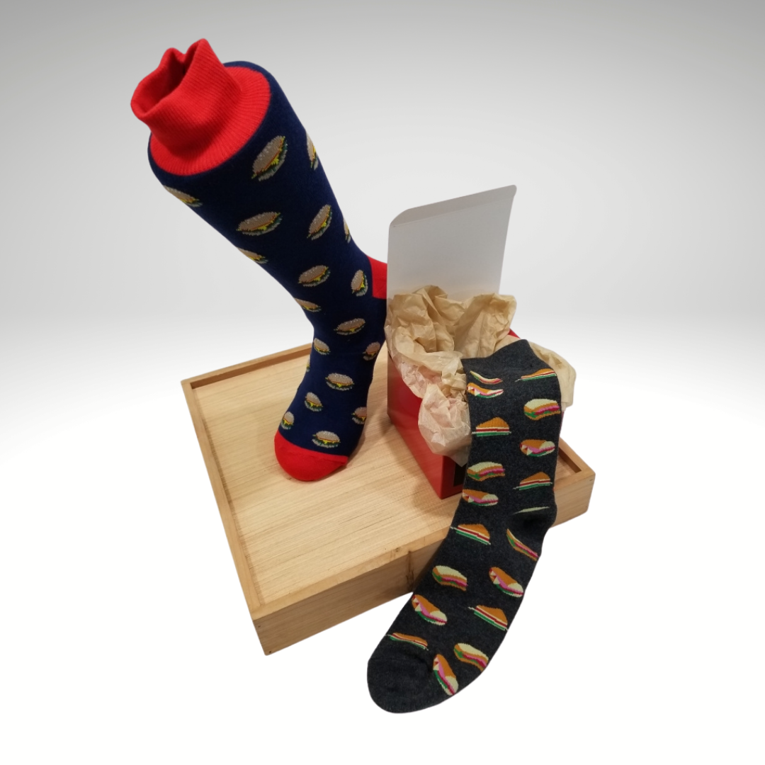 Burger and Sandwich | Sock Box 2-pack