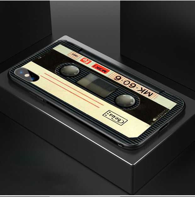 Original Retro Cassette Tape Coque Shell Phone Case for iPhone
