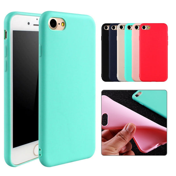 Silicone Matte Case For iPhone 11 Pro Max Case Soft Back Cover For iPhone 11 X 6 6s 7 7 Plus 8 8 Plus Protective Cases
