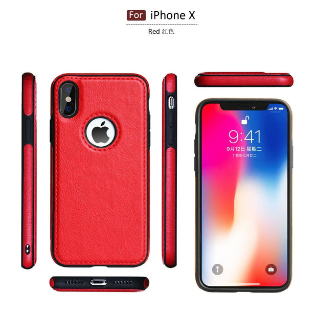 Luxury Slim PU Leather Case for iPhone XS Max XR Ultra Thin Phone Cases Cover For iphone X 8 7 Plus 6 6s Case Coque Fundas Capa