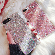 Silicone Bling Powder Soft Case For iPhone 5 5S 7 6 8 Plus X Shinning Glitter Phone Cover for iPhone XR XS Max Cases Shell