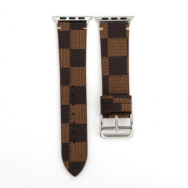 Plaid Leather Watch Strap-The Mobi World