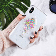 3D Dynamic Ice Cream Phone Case For iphone X Case Fashion Glitter Bling Back Cover Lovely Cartoon Cases For iphoneX Capa