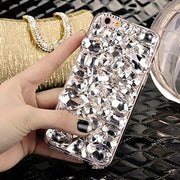 Rhinestone Crystal Diamond Fox and Crown Soft Back Phone Case Cover For iPhone Xs Max 7 8 Plus 6 6s Plus 5 5S SE